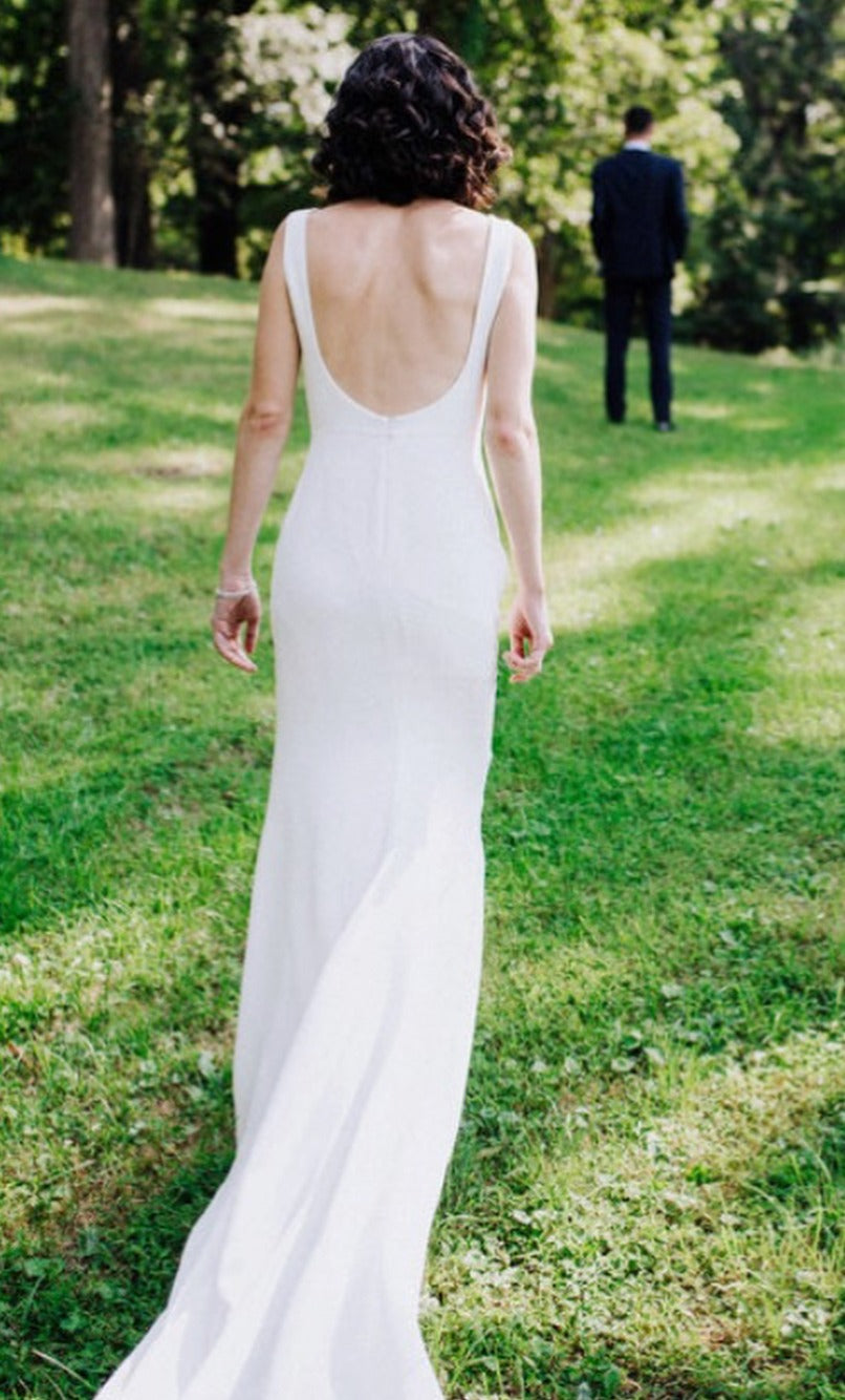 backless summer wedding dress