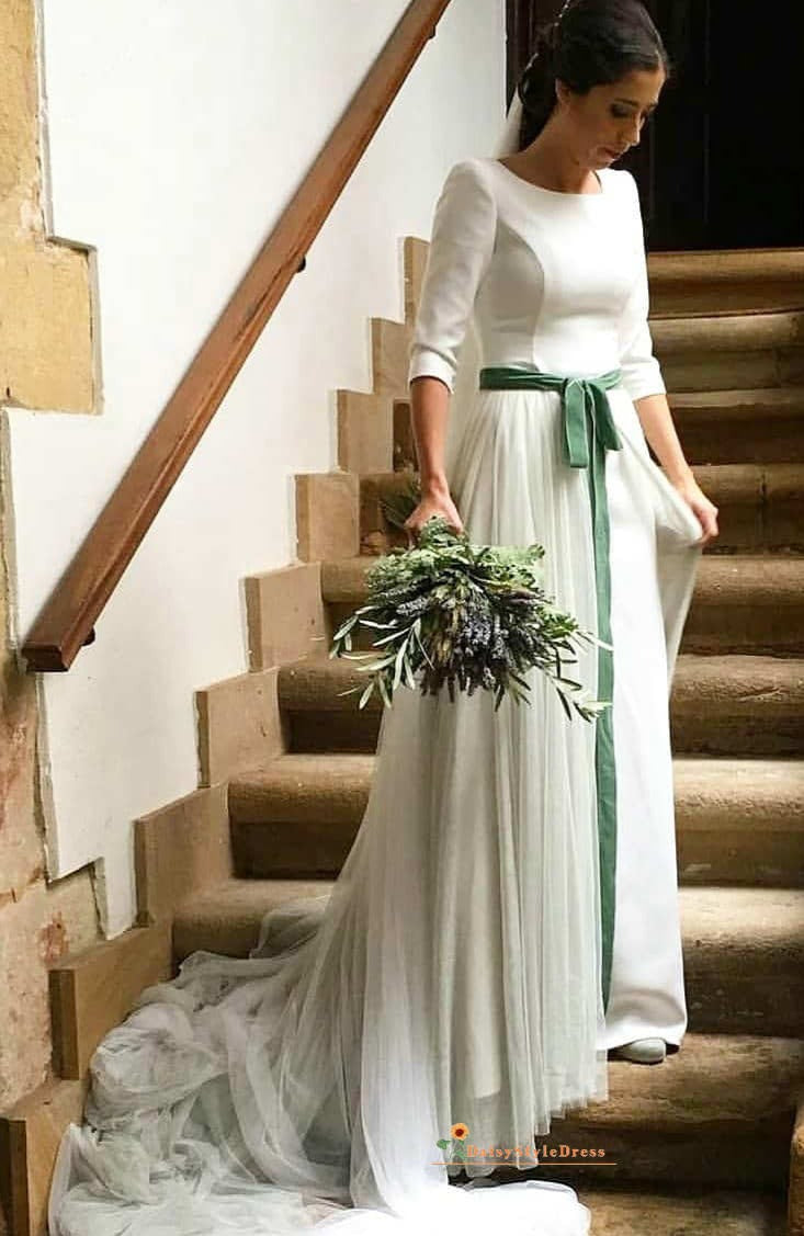 modest long sleeve wedding dress
