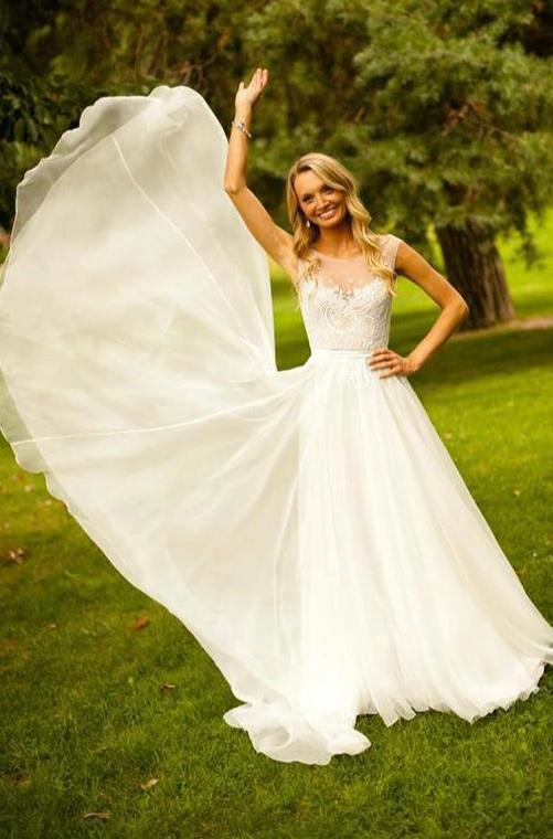 Cap Straps Informal Wedding Dress - daisystyledress