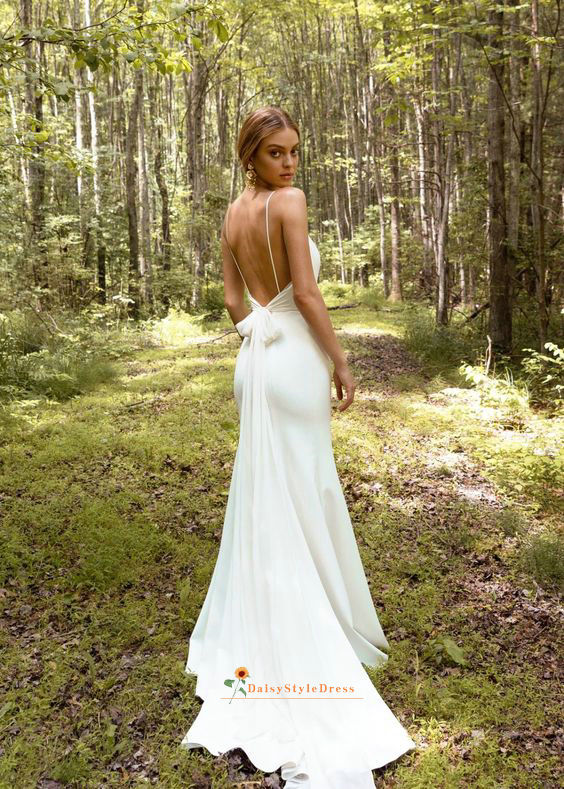 informal fitted Wedding Dress