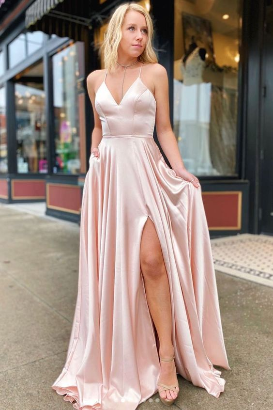 criss cross back prom dress