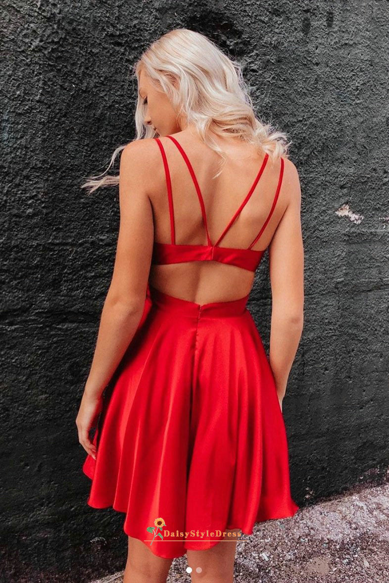 red homecoming dress