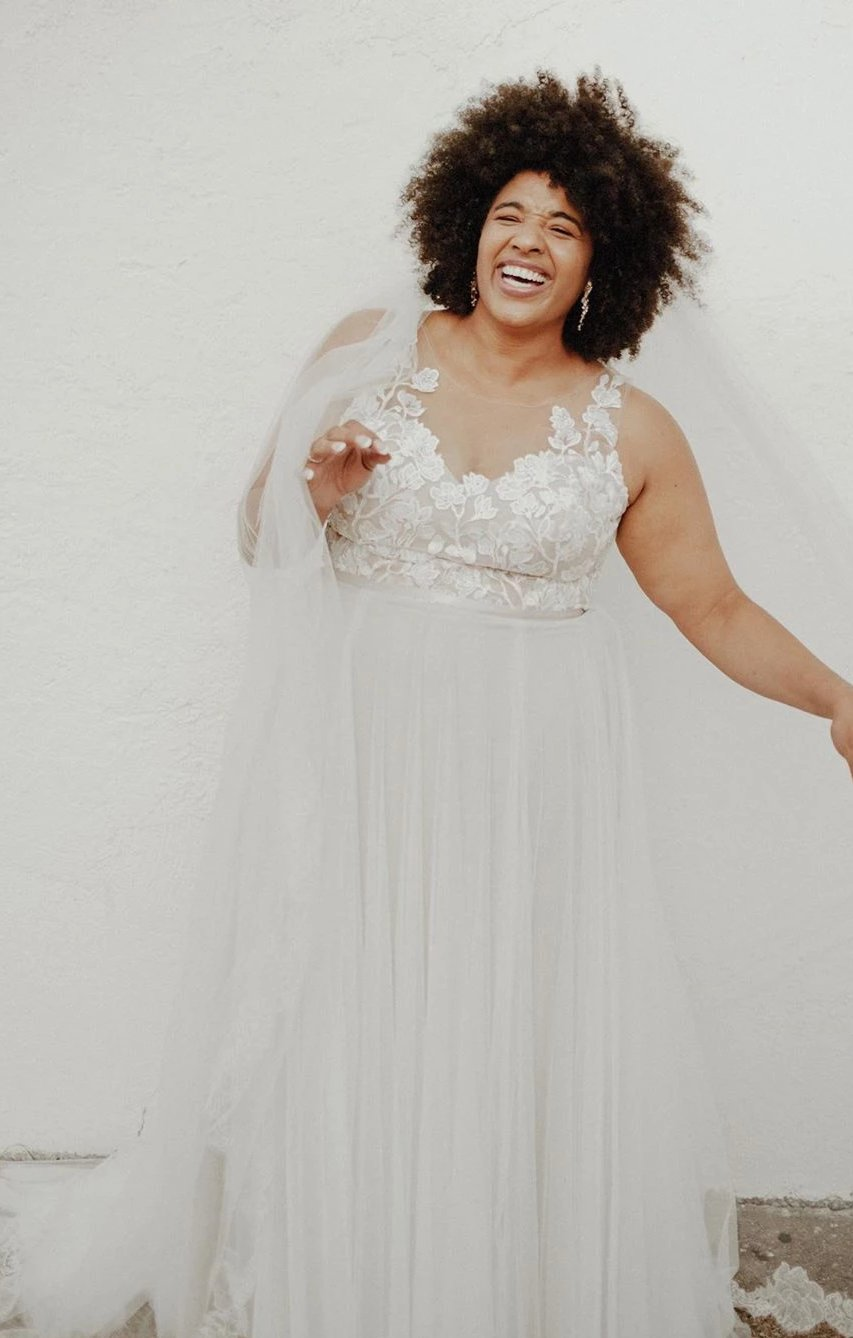 Informal Plus Size Wedding Dress - daisystyledress