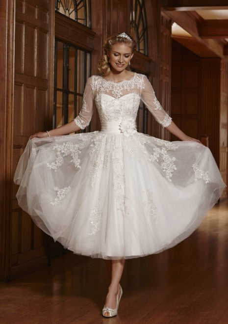 Informal Vintage Short Wedding Dress - daisystyledress