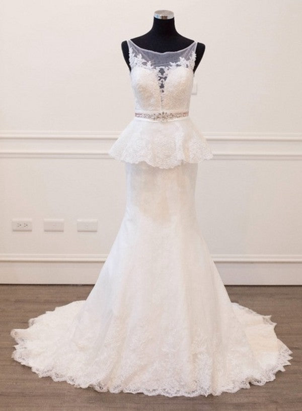 Classic Mermaid Lace Wedding Dress - daisystyledress