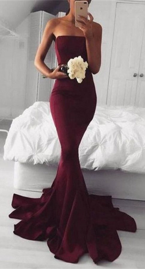 Fashion Mermaid Strapless Long Prom Dress - daisystyledress