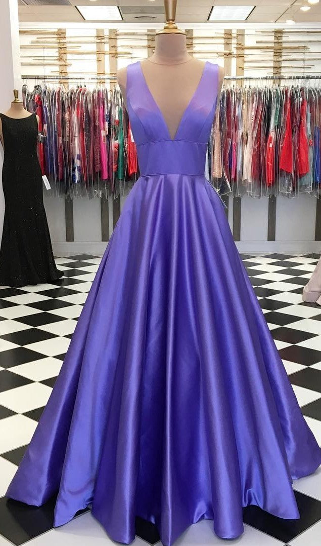 A line V-neckline Regency Prom Dress - daisystyledress