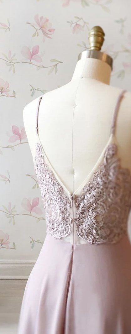 Spaghetti Straps Vintage Wedding Party Dress - daisystyledress