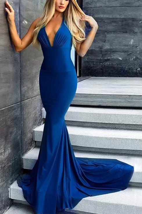 Sexy Mermaid Backless Prom Dress - daisystyledress