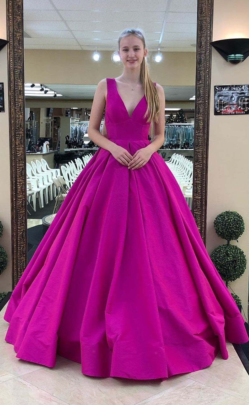 Ball Gown V-neckline Prom Dress - daisystyledress