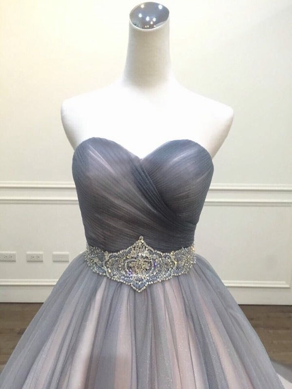 Ball Gown Sweetheart Gray Formal Evening Dress - daisystyledress