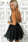Knee Length Black Lace Homecoming Dress - daisystyledress