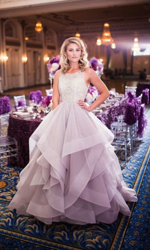 Fashion Tiered Skit Colorful Wedding Dress - daisystyledress