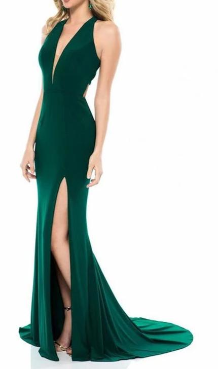 Mermaid Split Green Evening Dress - daisystyledress