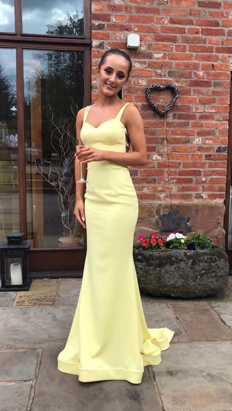 Fitted Yellow Prom Dress - daisystyledress