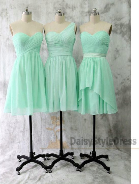 Short  Mint Green Cheap Bridesmaid Dress - daisystyledress