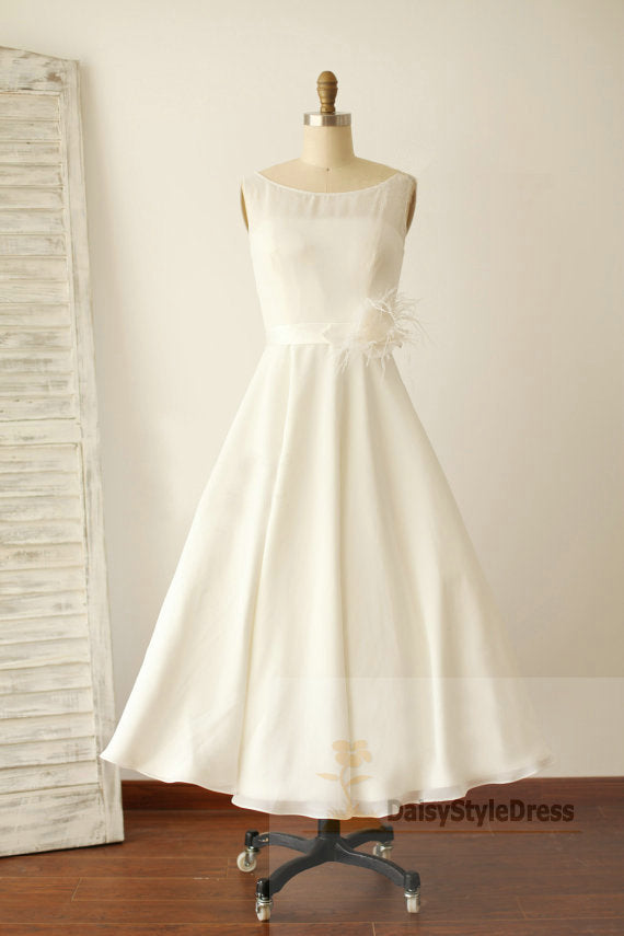 Tea Length Vintage Wedding Dress - daisystyledress
