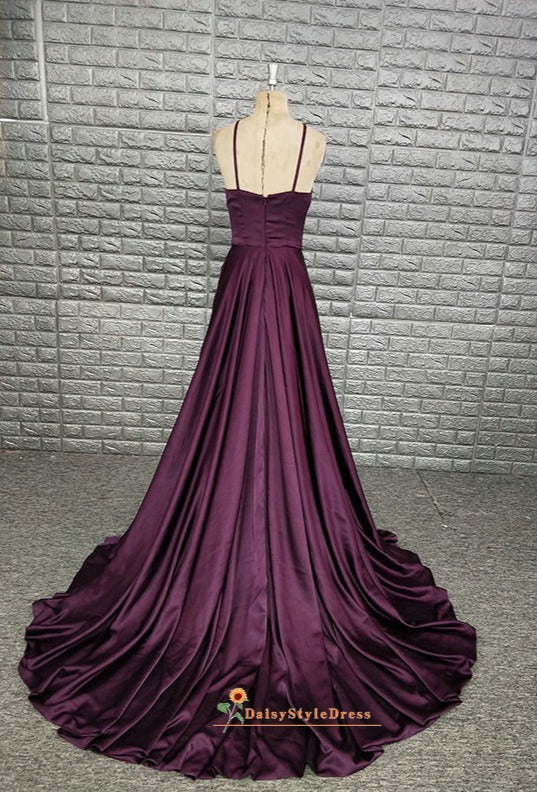 long grape pageant dress