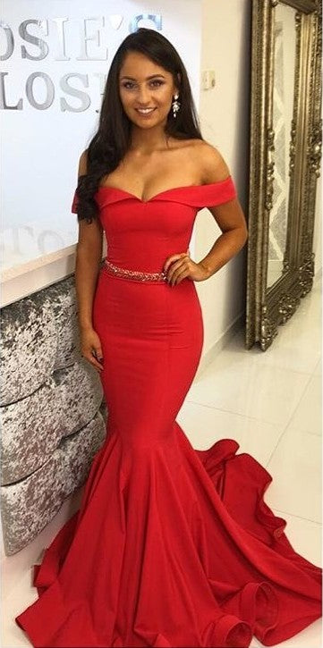 Sexy Mermaid Red Prom Dress - daisystyledress