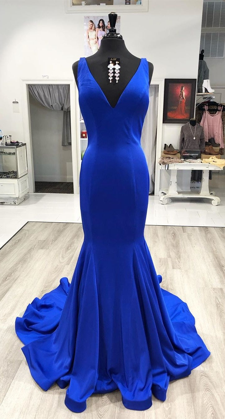 Mermaid Royal Blue Evening Dress - daisystyledress