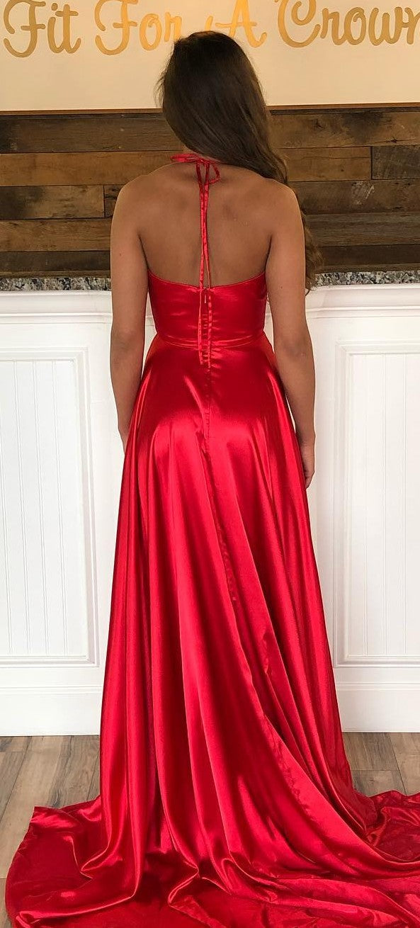 Sexy Slit Red Prom Dress - daisystyledress