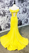 Mermaid Yellow Prom Dress with Split - daisystyledress