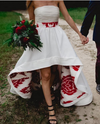 Sexy High Low White and Red Wedding Dress - daisystyledress