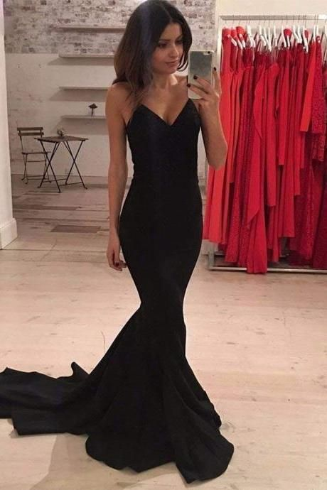 Mermaid Black Evening Dress - daisystyledress