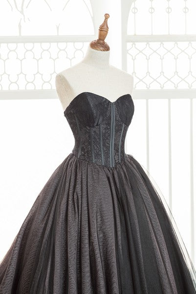 Ball Gown Sweetheart Black Wedding Dress - daisystyledress