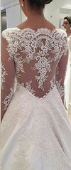 High Quality Lace Long Sleeve Wedding Dress - daisystyledress