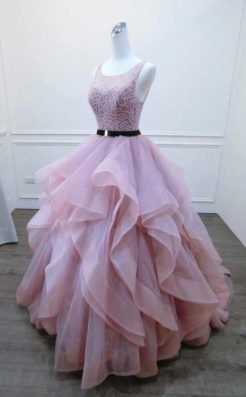 Ball Gown Blush Pink Prom Dress - daisystyledress