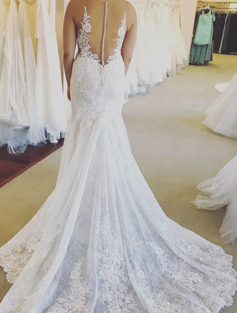 Elegant Mermaid Lace Wedding Dress - daisystyledress