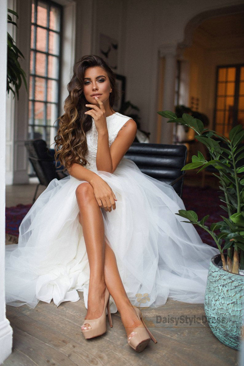 Fashion Two Piece Wedding Dress - daisystyledress