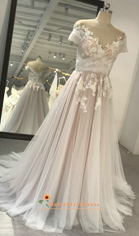 Short Sleeve Wedding Dress