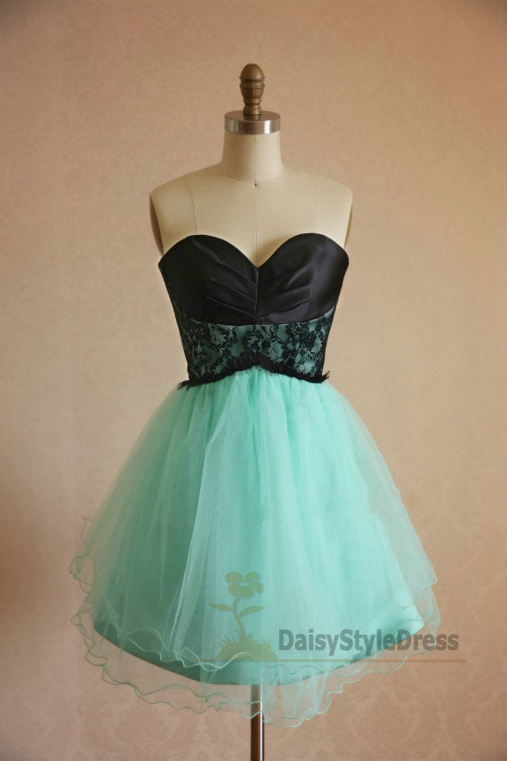Knee Length Mint Green Vintage Homecoming Dress - daisystyledress