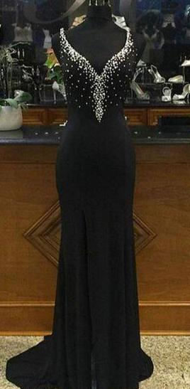 Sexy Mermaid Black Evening Dress - daisystyledress