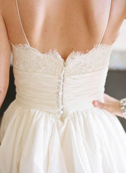 Simple Spaghetti Straps Wedding Dress - daisystyledress