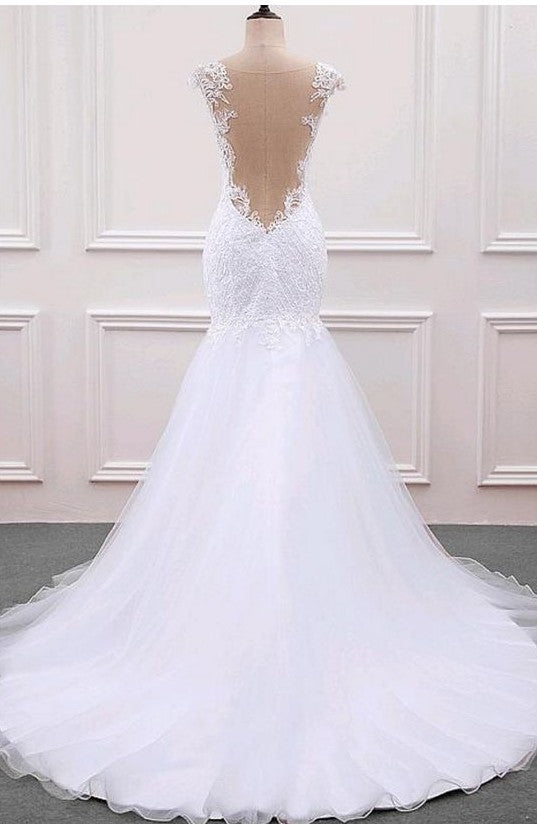 Custom Mermaid Lace Wedding Dress - daisystyledress
