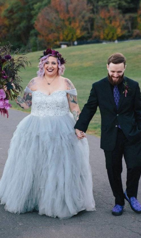 Plus Size Colorful Wedding Dress - daisystyledress