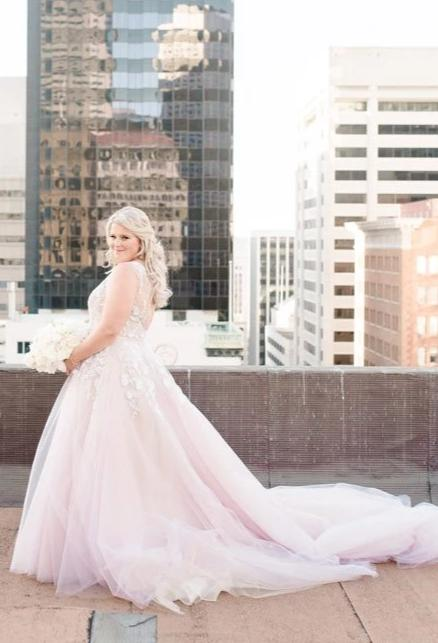 Blush Plus Size Wedding Dress - daisystyledress