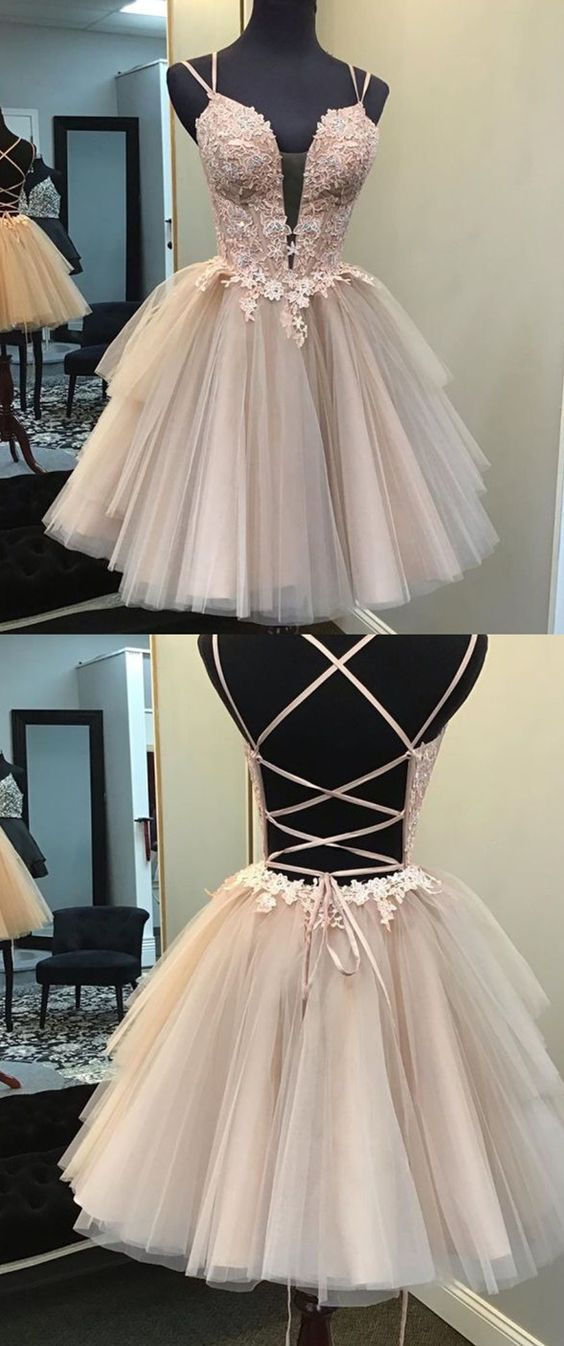 Criss Cross Back Hoco Dress