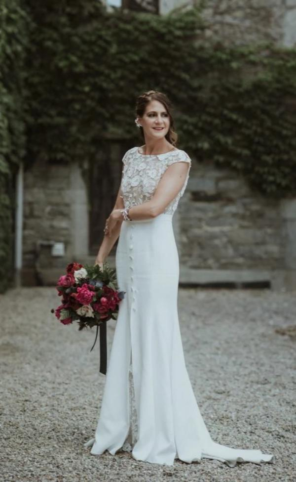 Vintage Fitted Cap Sleeve Wedding Dress - daisystyledress