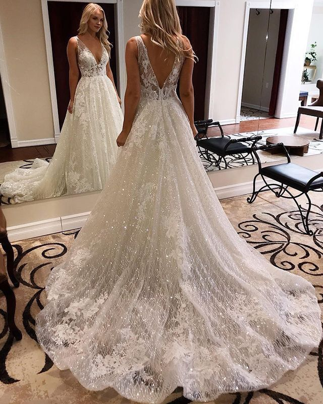 Spakle Wedding Dress