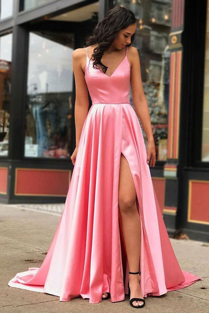 coral pink pageant dress