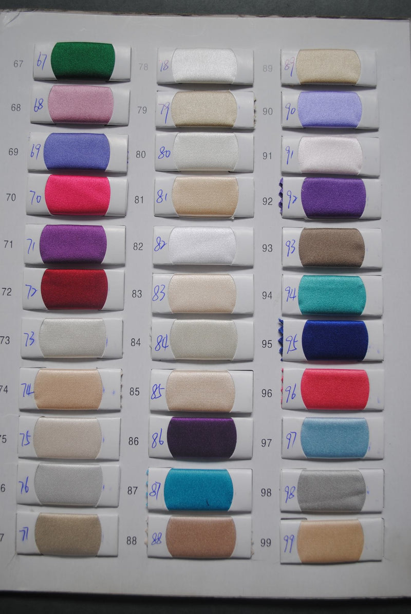 Satin Color Chart - daisystyledress