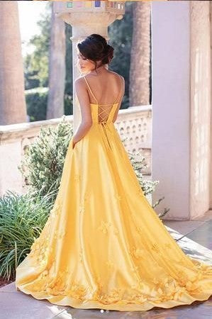 long criss cross back prom dress