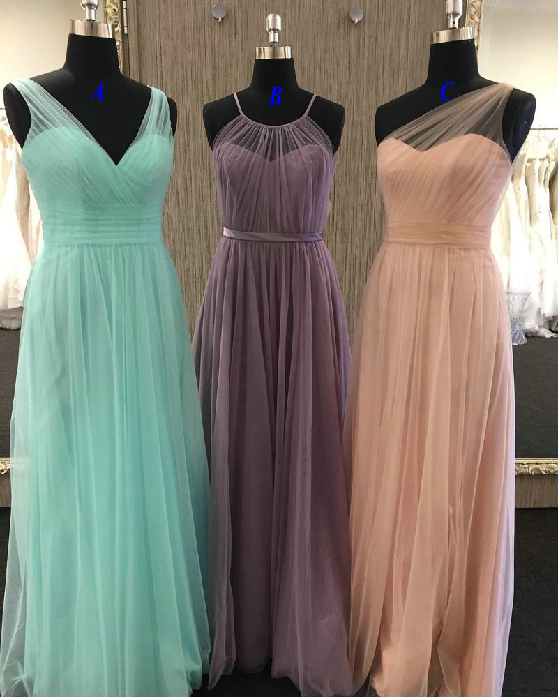 A line Tulle Bridesmaid Dress - daisystyledress