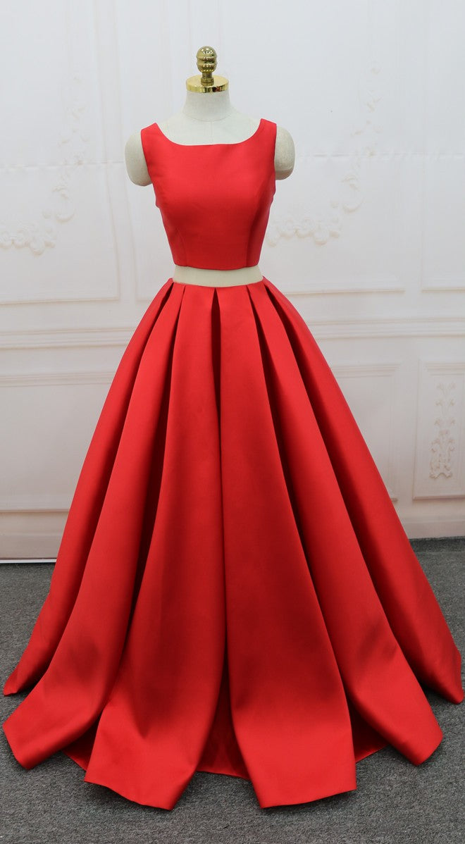 Ball Gown Red Prom Dress - daisystyledress