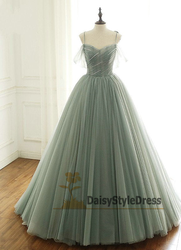 Ball Gown Spaghetti Straps Prom Dress - daisystyledress
