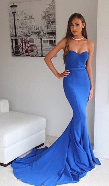 Mermaid Royal Blue Prom Dress - daisystyledress